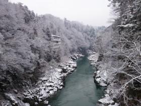 天龍峡雪景色2015